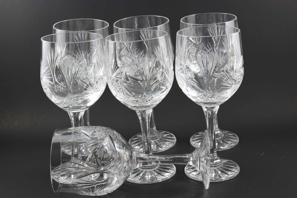 crystal wine glasses pinwheel wine glass made in poland kalyna 30002